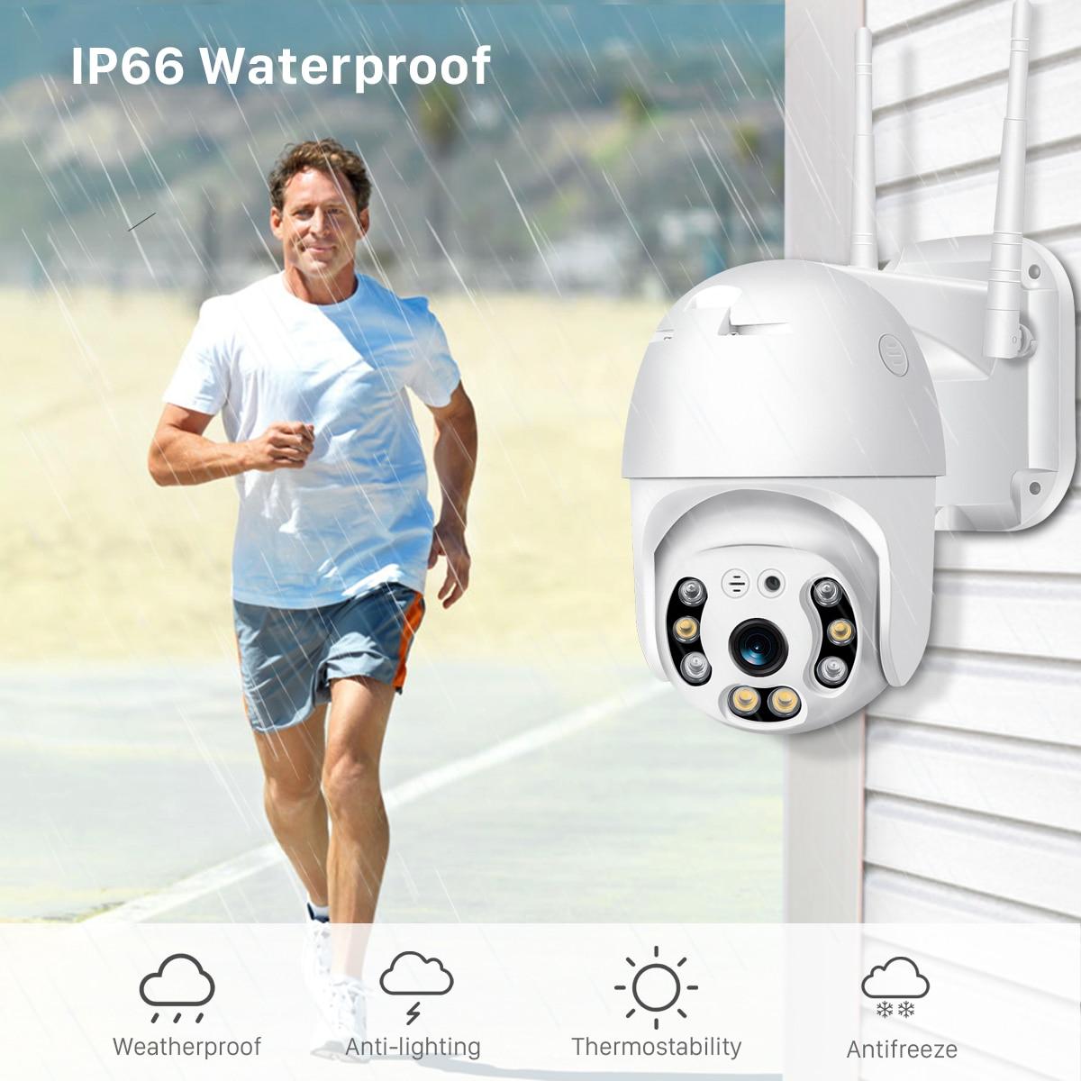 H372e1852b127452f9e9b750031427360V BESDER H.265 PTZ IP Camera 2MP WiFi Cloud Storage Motion Voice Alert Dual Antenna Dual IR Light PTZ Security Surveillance Camera