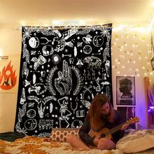 Wróżbiarstwo ręka Ok orzeł czaszka Hippie duża ściana gobelin Mandala indyjski księżyc Ouija psychodeliczny wystrój w stylu Boho wiszące gobeliny ścienne tanie tanio CN (pochodzenie) Skull hand AUBUSSON 1 pcs Pranie ręczne Można prać w pralce tapestry Drukuj PRINTED Zwykły Tkane rectangle