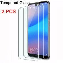 1/2 pçs vidro de proteção para huawei p40 lite e 5g protetor de tela para huawei p30 lite p20 pro p10 plus p9 lite hd vidro frontal