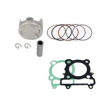 Motorcycle Rebuild Piston Gasket Kit 74mm Bore for YAMAHA YBR250 2007 2009 XT250 1YB 2013 2015