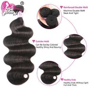 Image 4 - Güzellik sonsuza kadar vücut gölgeli brezilyalı saçı örgü demetleri % 100% Remy insan saçı postiş 8 30 inç ücretsiz kargo yüksek oranı