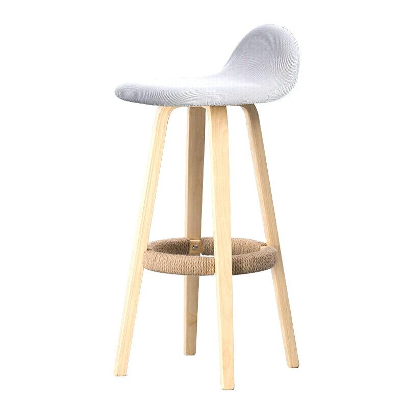 Hot Bar Chair Backrest Wrought Iron Bar Chair Home Bar Stool Modern Minimalist Bar Stool Solid Wood Nordic High Stool