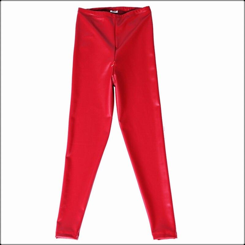 Image 5 - Sexy rouge Latex PU Faux cuir pantalon maigre ouvert entrejambe  Leggings femmes taille haute Invisible fermeture éclair noir  personnalisé pantalon mincePantalons et corsaires