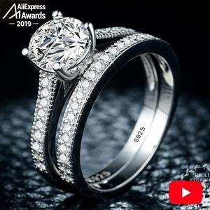 Sona S925 Серебряное кольцо i love mom SONA Diamond VS clearity, роскошное обручальное кольцо 1,25 карат, 2 шт., 6,18