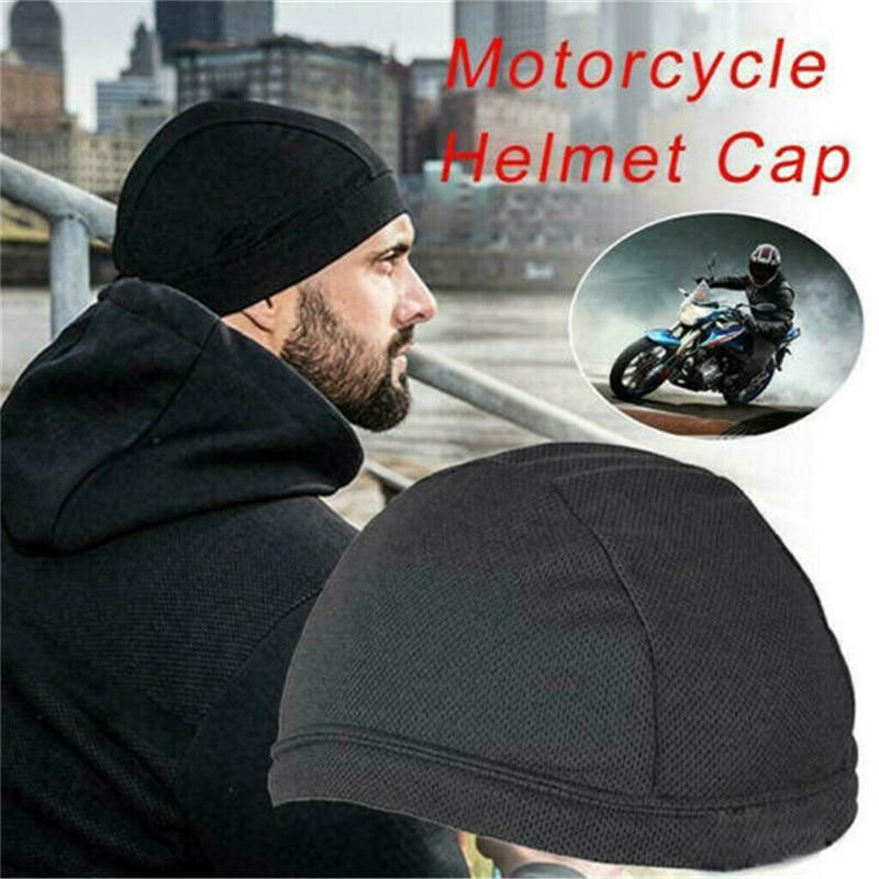 Motorcycle Moisture Wicking Cooling Skull Quick drying Cap Motorcycle Helmet Inner Liner Beanie Motocross Helmet Open Face Helmets    - AliExpress