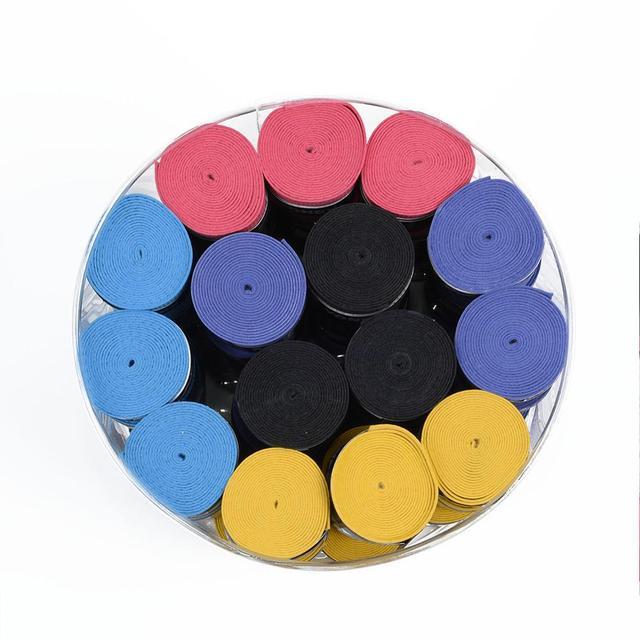 60pcs Dry Feel Tennis Overgrips Pressure Point Badminton Racket Over Grip Skidproof Fishing Rod Grip Sweatband 3
