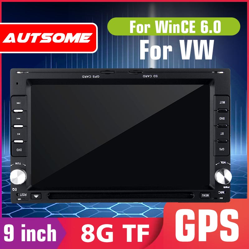 7'' WinCE 6.0 Multimedia Player 2 din Quad Core for VW B5 MK4 MK5 Golf Passat Jetta 2 DIN Car Radio DVD Player GPS Stereo image