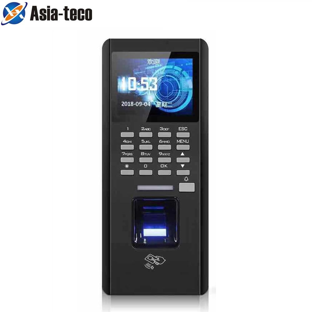Fingerprint Access TCP/IP Access Controller ID Card Recognition FingerPrint Time Attendance Black