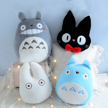 Cute Totoro Plush Pillow Stuffed Kiki Totoro Toy Japanese Anime Figure Soft Doll Home Soft Decor Throw Pillow Cushion