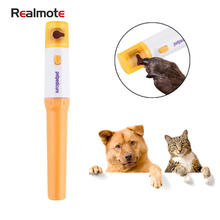 Realmote Pet Clipper Cats Dog Paw Nails Electric Trimmer Painless Grinding File Kit Pet Grinder Grooming Tool
