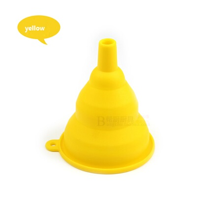 Oil Filter Silicone Collapsible Funnels Food Grade Pure mini Funnel wine leakage Oil Filter Folding