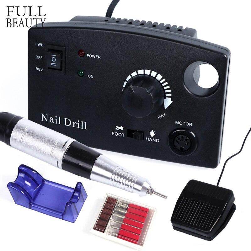 30000RPM Nagel Bohrer Elektrische Maschine Kit Salon Maniküre Pediküre Dateien Zubehör Polierer Cutter Gerät Werkzeug CHdr402-1