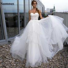 Sumnus свадебное платье в стиле кантри для женщин трапециевидной