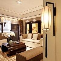 Novo chinês moderno quarto lâmpada de parede cabeceira criativo retro corredor escadas lâmpada parede do hotel projeto
