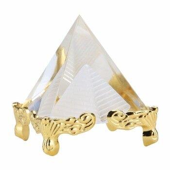 Модный искусственный Египетский прозрачный кристалл K9 пирамида из кварца украшение для дома и офиса прекрасный орнамент подарок для друзей