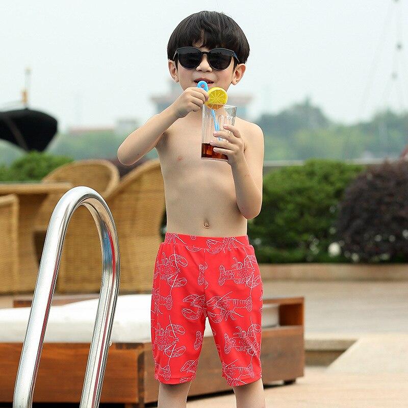 New Style KID'S Swimwear BOY'S Split Type Big Boy Baby Teenager Students Boy Tour Bathing Suit Swimming Trunks Set