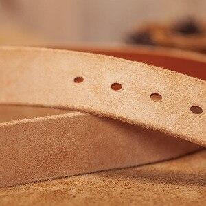 Image 4 - Erkek kemer deri kemer erkekler erkek hakiki deri kayış kahverengi inek deri kemer erkekler için pin toka vintage kot cintos masculinos