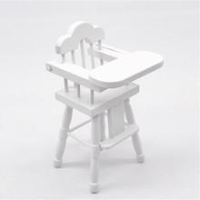 Мини кукольный домик мебель детский стульчик для кормления миниатюрная гостиная Малыш Дети ролевые игры игрушки для детей кукольный домик W1016