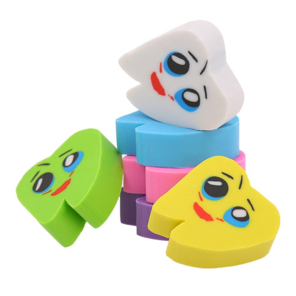 50 шт./пакет в форме коренного зуба зуб резиновые ластики в форме стоматолог стоматологическая клиника школьная станет желанным подарком для друзей для детей супер зубы красивый