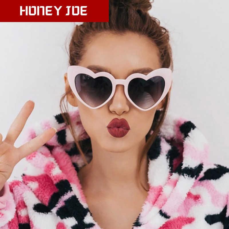 สตรี VINTAGE Heart Shape แว่นตากันแดดยี่ห้อ Designer Love Lolita CAT EYE สุภาพสตรีแว่นตา Sun แว่นตา Shades UV400