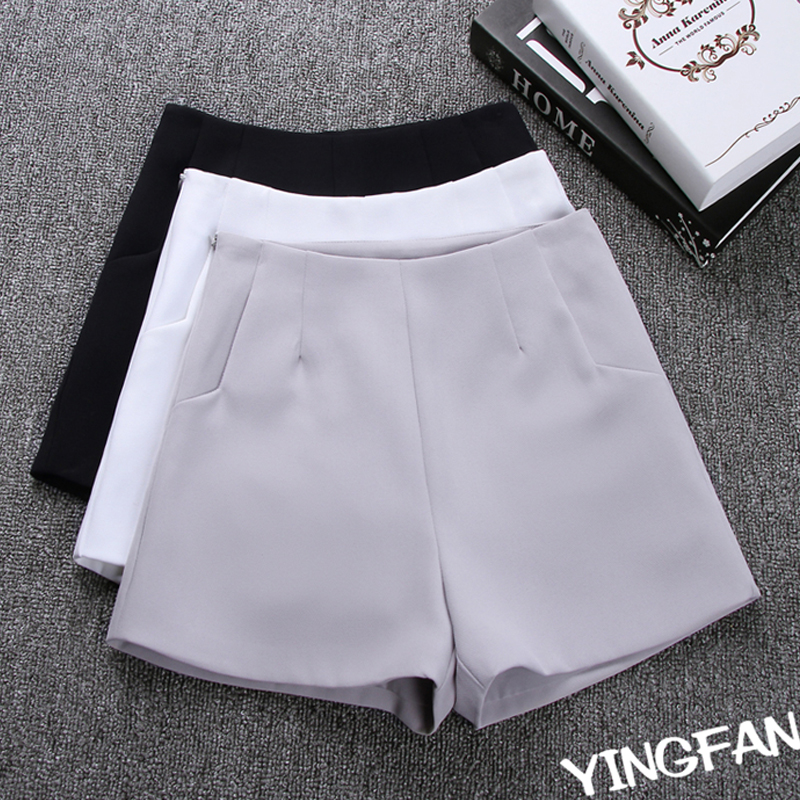 New Summer Hot Fashion New Women Shorts Skirts High Waist Casual Suit Shorts Black White Women Short Pants Ladies Shorts 19i