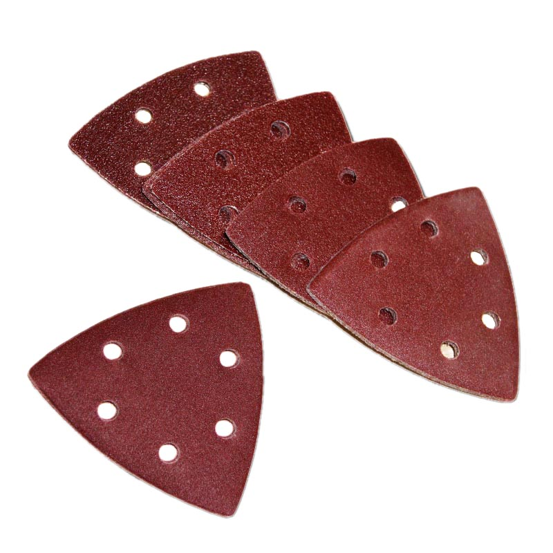 25pcs 93mm Delta Sander Sandpaper Hook & Loop Sanding Paper Abrasive Woodworking Tools With Grit 60 80 120 180 240