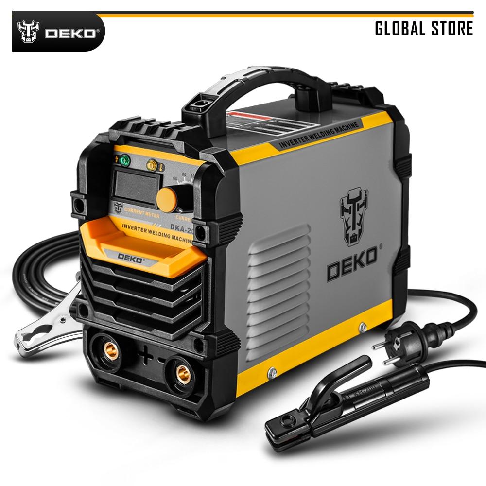 DEKO DKA-200Y 220V MMA Welder 200A 4.1KVA Inverter Arc Electric Welding Machine For Welding Task And Electric Working DIY Tool