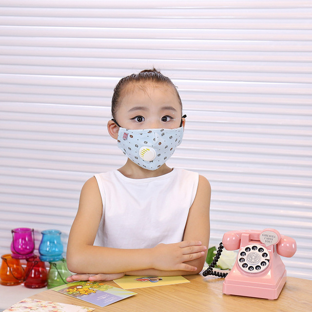 ffp3 boys and girls dustproof, anti-fog, anti-flu, anti-virus, PM2.5, warm and breathable cotton cloth with breathing valve mask 4