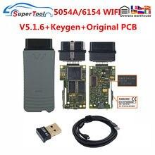 Original oki 5054a 5.1.6/5.1.3 bluetooth amb2300 completo chip 6154a wifi para V-W vcx nano wifi para ad/skoda obd2 leitor de código