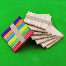 50 шт./упак. деревянные поделки искусство для Детский Набор для творчества ручная работа дом Мороженое палка красочный деревянный подарок для Детские принадлежности игрушки