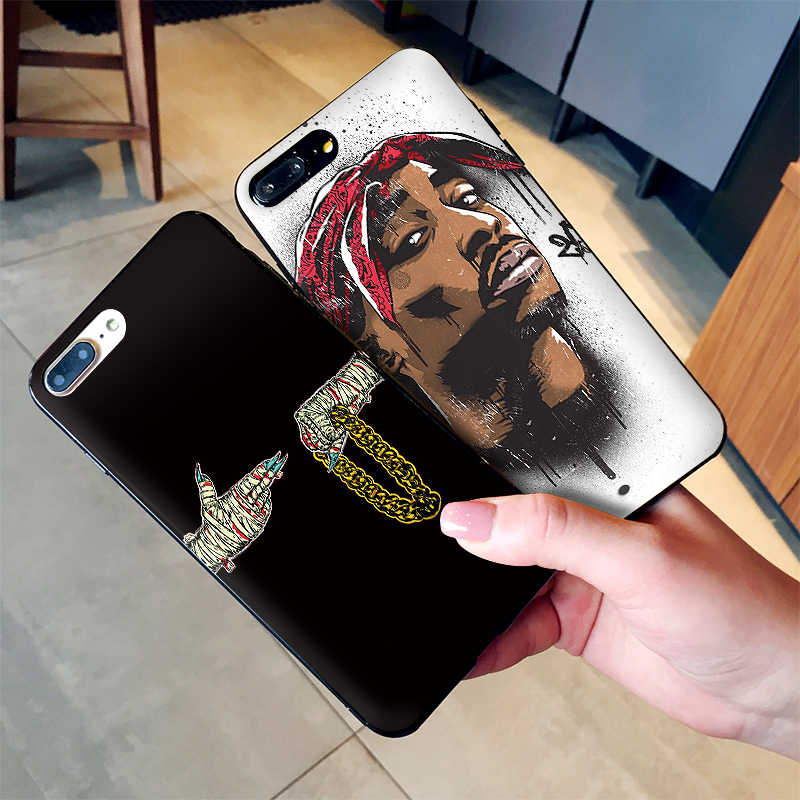 Pop art moda kafatası iPhone X XR XS MAX Yumuşak Silikon arka kapak Apple iPhone 8 7 6 S 6 S Artı telefon kılıfı