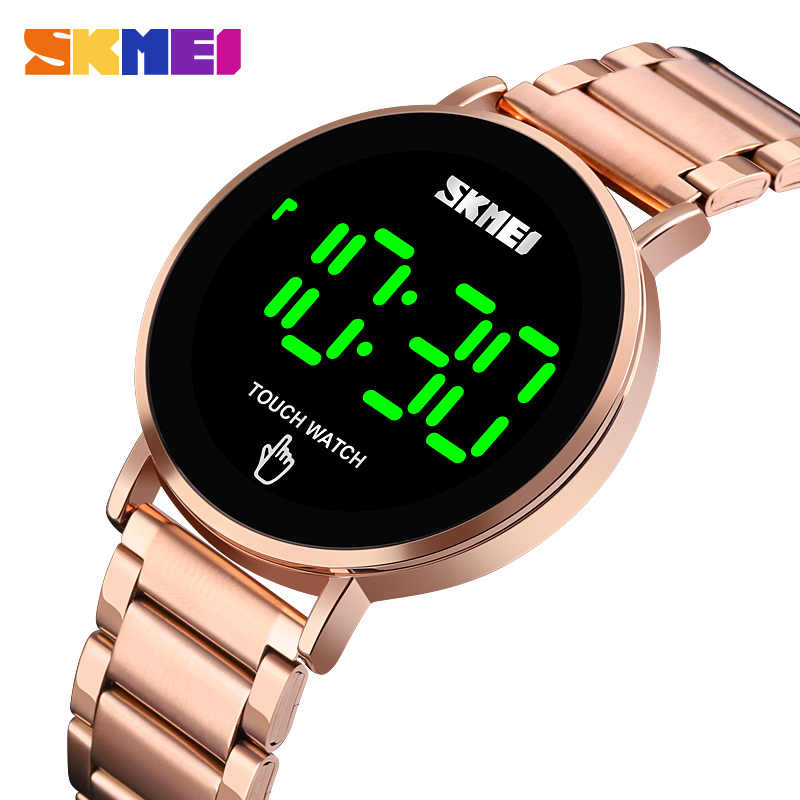 SKMEI écran tactile affichage hommes montres haut de gamme sport de luxe horloge numérique lumière LED Date étanche mâle électronique relojes