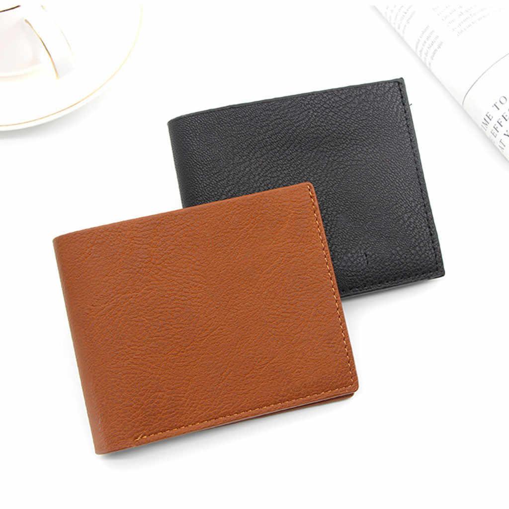 Pu レザーコイン財布レディースメンズスモールミニショート財布バッグマネー変更リトルキービジネスクレジットカードホルダーのための子供女の子