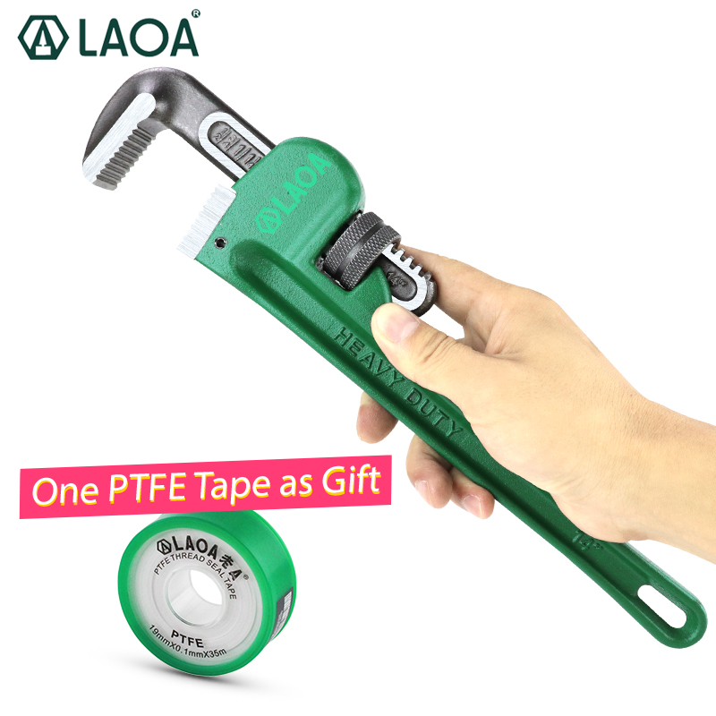 LAOA New Type Pipe Wrench 8Inch 10Inch 14Inch Heavy Duty Plumbing Cr-V Steel No-rust No-corrosion Handtools