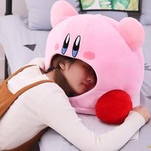 Cartoon Kirby Stuffed Plush Animal Headwear Pillow Nap Cushion Toy Kids Present Baby Birthday Gift