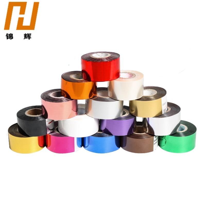 3CM 120 meter/Rollen Gold Silber Heißer Folie Stanzen Papier Handwerk Papier 12 farben branding eisen heißer Wärme presse maschine