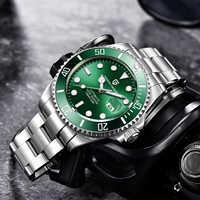 Diseño PAGANI reloj luminoso de lujo para hombre relojes mecánicos pulsera de acero inoxidable reloj automático para hombres