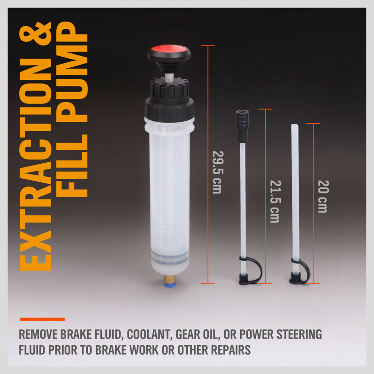 200cc Oil Fluid Extractor & Filling Syringe Bottle Transfer Hand Pump Automotive Fluid Extraction Car Fuel Pump Car Styling