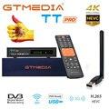 GTMEDIA TT Pro ТВ приемник для DVB-T2/DVB-C USB ТВ палка декодер HD 1080p ТВ тюнер Поддержка H.265 + Испания Польша Европа декодер