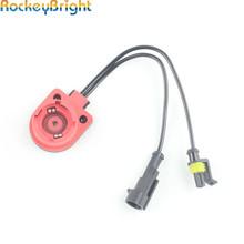 Rockeybright 2X D2S D2R D2C D4S D4R ksenonowa ukryta żarówka uprząż konwerter gniazda adaptery przewód drutowy D2 reflektor HID AMP złącza tanie tanio 35W 55W 75W Stranded Bare Drut Miedziany D2S D2R D2C D4S HID xenon bulb wiring Harness holder socket adapter Female Male Replacement Plug Replace Conversion