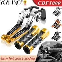 Für HONDA CBF1000 CBF1000A 2010 2011 2012 2013 Motorrad Zubehör Einstellbare Bremse Kupplung Hebel Griff Bar Griffe CBF 1000 EIN