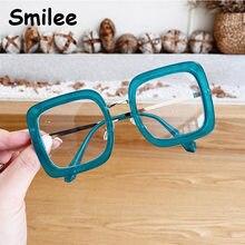Anti Bicchieri di Luce Blu Verde Occhiali Da Vista Frames Occhiali Quadrati Stilista di Moda di Lusso di Grandi Dimensioni Lente Miopia Telaio Dell'ottica