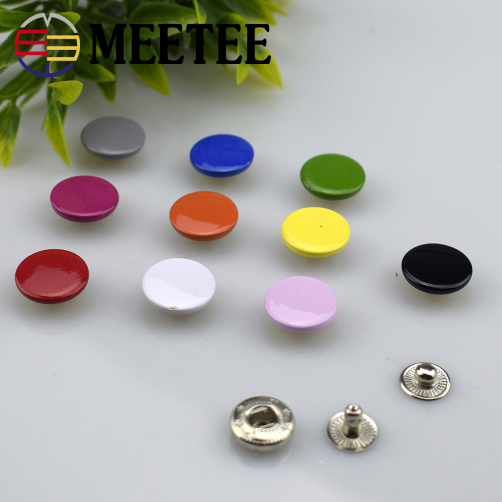 10Sets Meetee 12 17mm Colorful Buttons Snap Fasteners Press Studs for Sewing Leather Craft Clothes Bags Decor Accessories D3 6 in Buttons from Home Garden