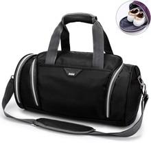 Fitness Bag Cylinder Handbag Men Fitness Handheld Shoes Bags Waterproof Nylon One Shoulder Backpack Sports Womens Yoga Gym Bag