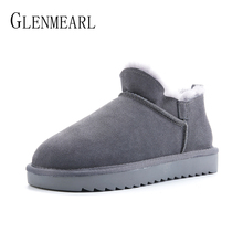 Genuine Leather Women Snow Boots Winter Shoes Fur Wool Ankle Boots Platform Australia Classic Woman Boots Plus Size Warm Shoes 100% genuine leather natural fur snow boots warm wool women boots classic waterproof ankle boots women shoes lady winter boots
