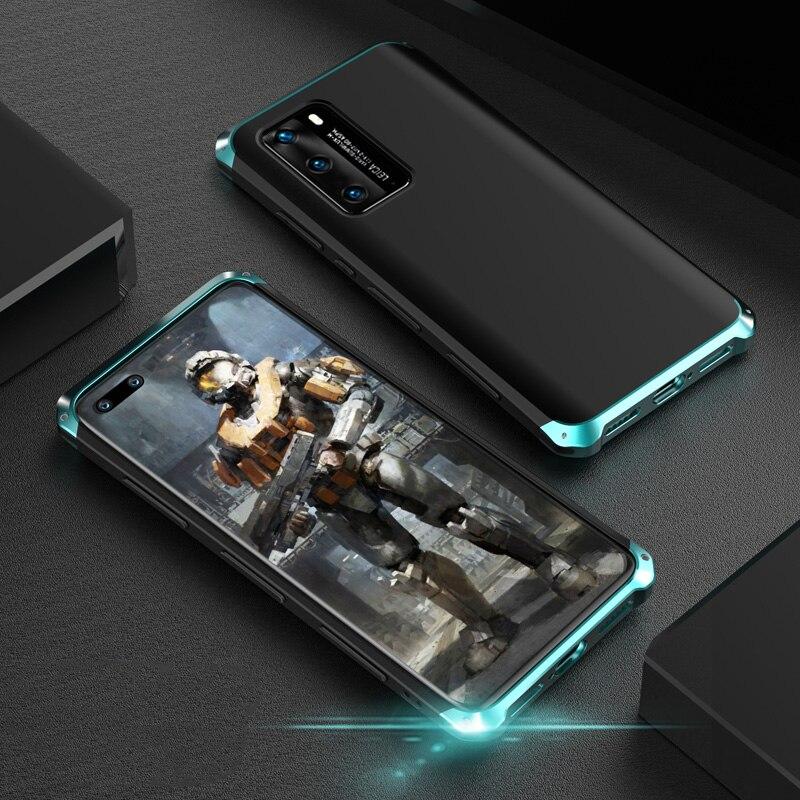 Противоударный бронированный чехол для Huawei P40 Pro, жесткий ТПУ металлический бампер, чехлы для телефонов Huawei P40pro, защитный чехол, аксессуары|Специальные чехлы|   | АлиЭкспресс