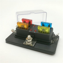 DC 12-32V 4 Way Car Vehicle Circuit Automotive Blade Fuse Box Block LED Indicator Warning Fuse Holder Box