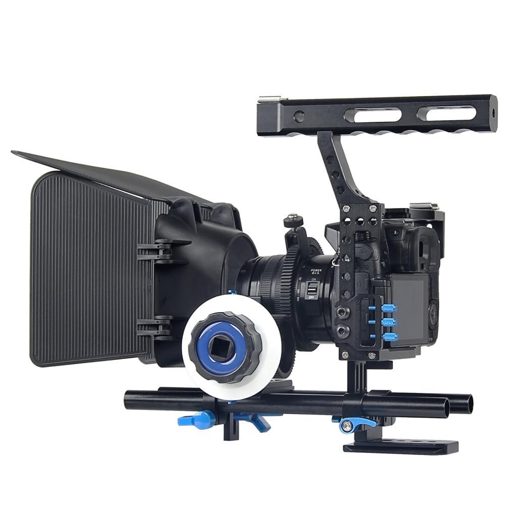 A7 Camera Cage Handle Dslr Video Stabilizer Rod Rig For Sony Gh4 GH5 GH5S A6300 A6500 A7S A7 A7R A7Rii A7Sii Camera Movie Cage