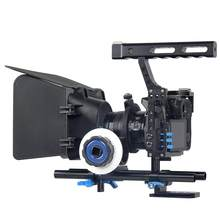 A7 vídeo estabilizador câmera gaiola lidar com dslr rig para sony gh4 gh5 gh5s a6300 a6500 a7s a7 a7r a7rii a7sii câmera gaiola de filme