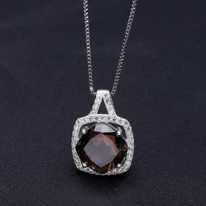 Image 3 - Ensemble de bijoux en Quartz fumé, pour femmes, BALLET, boucles doreilles et pendentif, en argent Sterling 925, pour mariage